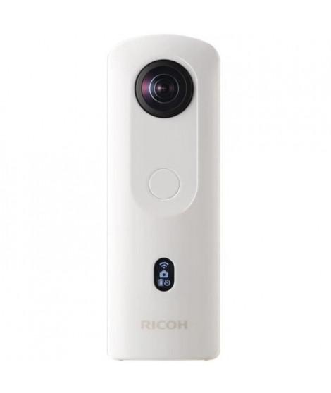 RICOH 91080002 - Caméra Theta SC2 360° - 14MP - Vidéos 4K - 3200 iSO - Blanche + Attache Grise