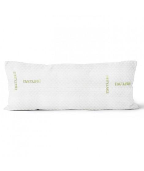SOLEIL D'OCRE Traversin mémoire de forme - Polyester et polyuréthane - 140 cm - Blanc