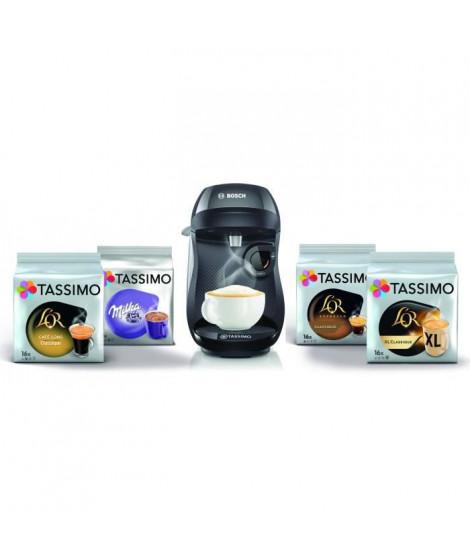 BOSCH TAS1002C5 - Bundle TASSIMO HAPPY NOIR TAS1002 + 4 pack de TDISCS