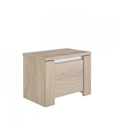 GAMI Chevet 1 tiroir Grosse épaisseur- Décor chene - Made in France - L 55 x P 36 x H 41cm - OLERON