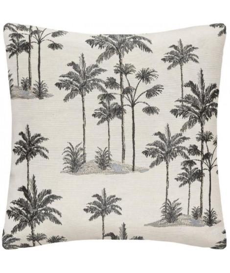 Housse coussin Jacquard Lurex Palm - 40x40 cm