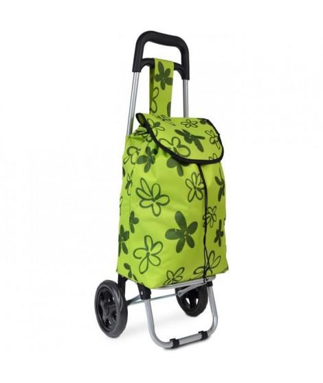 KINSTON Chariot de Course Motif Fleurs Vert