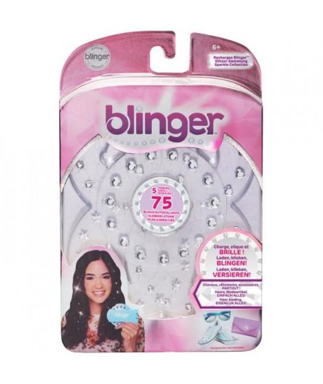 BANDAI Blinger - Recharge pour machine Blinger a coller des strass sur cheveux, vetements ou accessoires - 75 brillants inclus