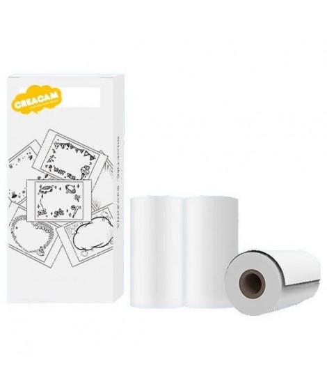Pack de 3 rouleaux de papier pour Appareil Photo Créacam