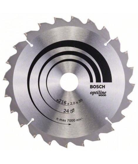 Lame de scie circulaire au carbure BOSCH PROFESSIONAL 216 x 30 x 2,0 mm (24 dents) - Bois