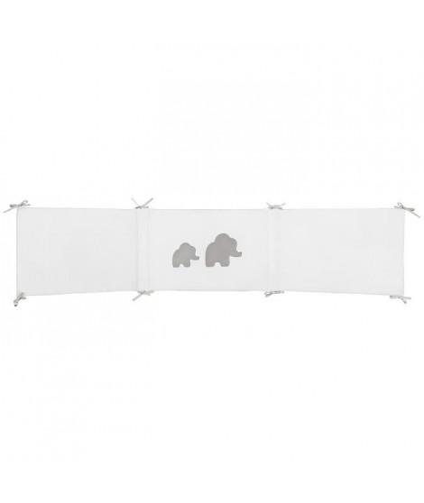 NATTOU Tour de lit réversible Tembo - 180 x 40 cm - En coton et polyester