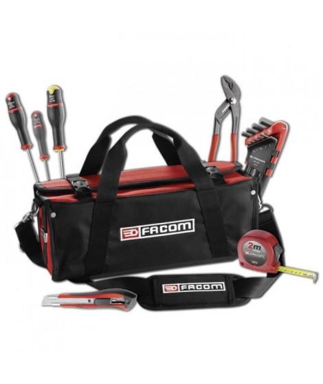 FACOM - Boite textile mini Probag + 15 outils - BS.SMBCM1PB – Ouverture 100%, charge max 5kg