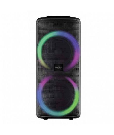 IBIZA RAINBOW 1000 - Enceinte High Power 1000W - Lecteur USB, Bluetooth, Micro-SD - Entrée micro, Fonction enregistrement, Mé…