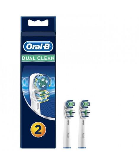 Oral-B Dual Clean - Brossettes EB417 x2