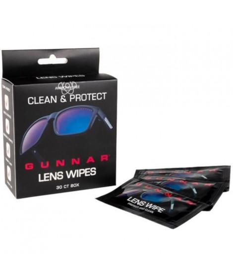 GUNNAR - Pack de 30 lingettes nettoyantes pour lunettes anti-lumiere beue