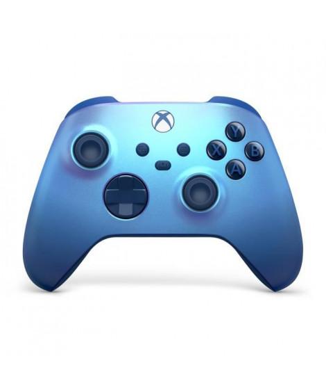 Manette Xbox Series sans fil nouvelle génération – Aqua Shift – Bleu – Xbox Series / Xbox One / PC Windows 10 / Android / iOS