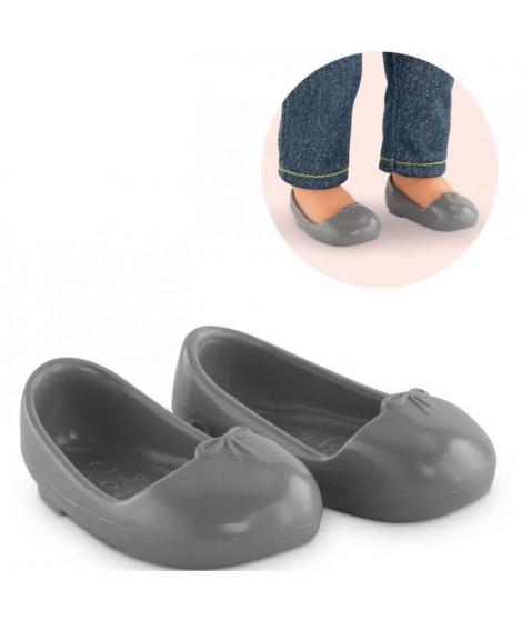 Chaussures pour poupée ma Corolle 36 cm : Ballerines Grises Coloris Unique