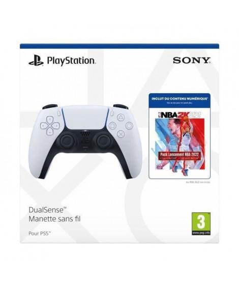 Manette PS5 DualSense Blanche/White + Pack de lancement NBA 2K22 - PlayStation Officiel