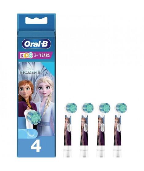 ORAL-B 80352086 - Brossettes de rechange Disney La reine des neiges2 - Pour brosse a dents éléctrique Oral-B Kids - Lot de 4
