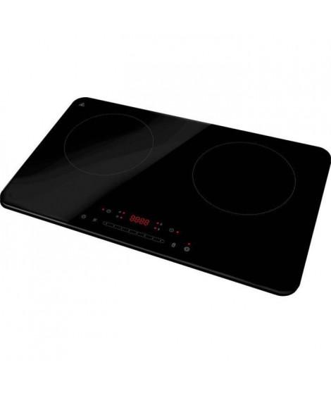 DOMO DO333IP - Plaque a induction double feux - 3500W  - Touchscreen - Minuteur numérique 3h - 7 niveaux de puissance - 20cm