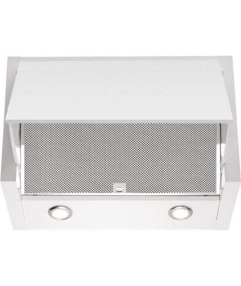 ELECTROLUX LFE116W-Hotte escamotable-Evacuation / Recyclage-730 m3 air max / h en intensif-71 dB max-3 vitesses+1-L 60 cm-Inox