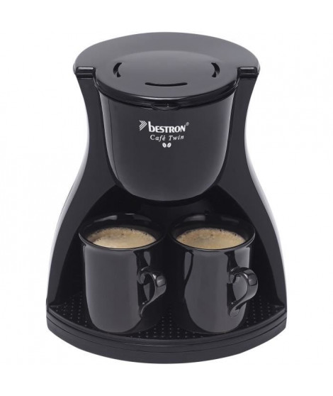 BESTRON ACM8007BE Cafetiere filtre Twin - 2 tasses - Arret automatique - 450W - Noir