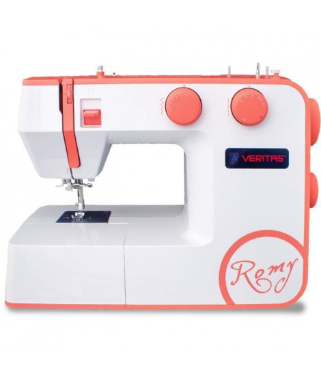 VERITAS ROMY - Machine a coudre 34 programmes - Boutonniere automatique 1 étape - Molettes Soft touch - Vitesse (RPM): 750+/-50