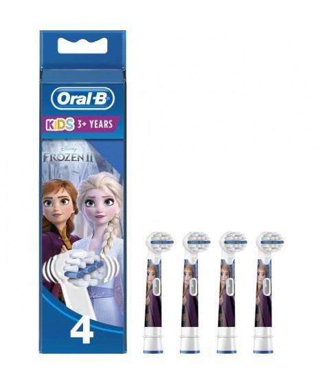 Oral-B Stages Power 4 brossettes de rechange avec les personnages de La Reine des Neiges