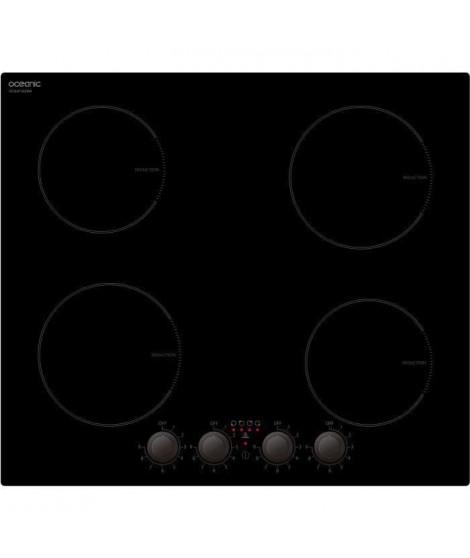 OCEANIC - TI4ZMA - Plaque Induction - 4 foyers - 6000W - L58cm x P52cm - Verre chinois