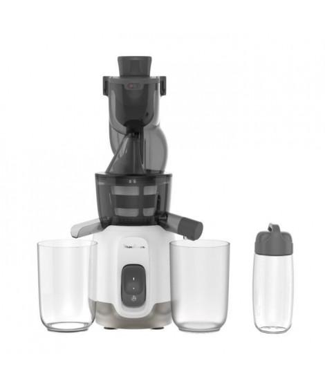 MOULINEX ZU600110 Ultra Juice Extracteur de Jus a Froid 2 Filtres Gourde 600 mLGoulotte Extra-large 85 mm, Programme automat…