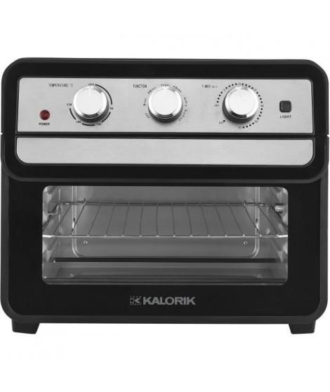 TKG AFO 2000 - Mini-four et friteuse a air chaud combiné - 22L - 1700W - Chauffe en voûte, sole ou combinée - 90-230° C - Noir