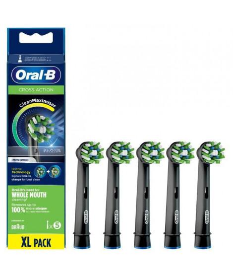 Oral-B CrossAction Brossette Avec CleanMaximiser, Noire, 5