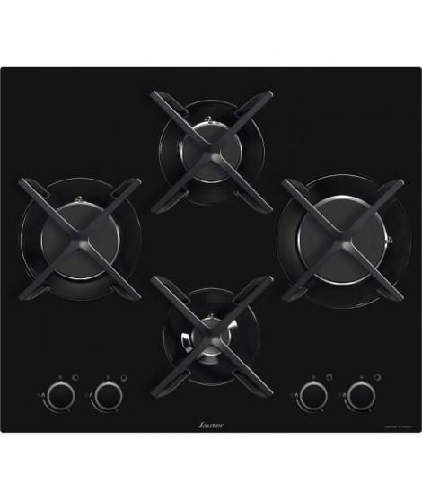 SAUTER SPG9465B  - Table de cuisson gaz - 4 foyers - 60 cm - Verre trempé - Noir