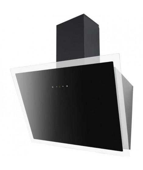 CONTINENTAL EDISON CEH6052FULLB Hotte inclinée déco 60 cm - touch control - 520 m3/h - Classe C - noir en verre - 63 dB