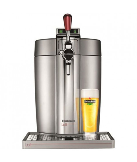 KRUPS Tireuse a biere Beertender - VB700E00 - Compatible fûts 5 L -  Chrome