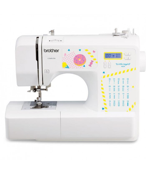 BROTHER KE20 – Machine a coudre électronique pour jeunes créatifs– 20 points de couture – Protege-doigts – Systeme d'enfile-a…