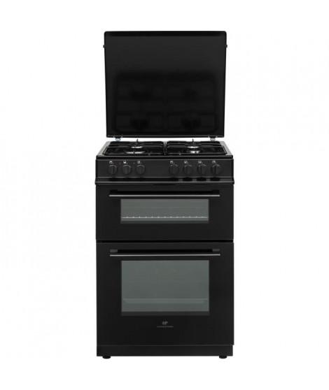 Cuisiniere gaz 60x60 Double fours électrique Multi cata + CN - 4 feux noir