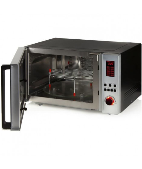 DOMO DO1059CG Micro-ondes combiné 42L - 3-en-1 : Micro ondes 1000W, grill 1300W, convection 2700W - 10 programmes - Minuterie…