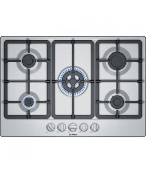 BOSCH - PGQ7B5B90 - Table de cuisson a gaz  - 5 zone - 10800W - 75 cm - Acier Inox