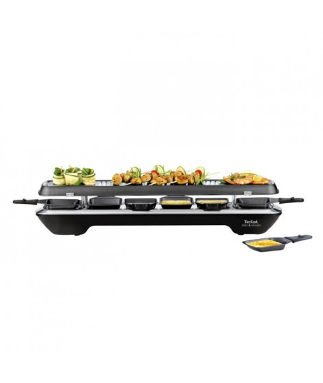 TEFAL RE522812 Appareil a raclette Inox&Design 6 personnes - Noir