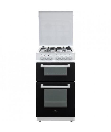 CONTINENTAL EDISON Cuisiniere 50x60 Double fours électrique - 4 feux blanc