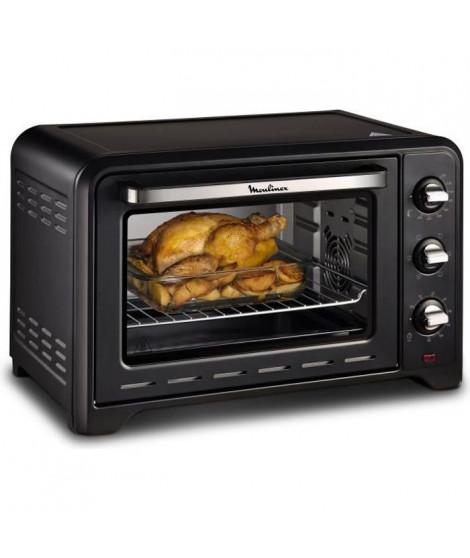 MOULINEX OX464810 - Mini four grill - 33L - 1600 W - Grill 800 W - Chaleur tournante - Noir