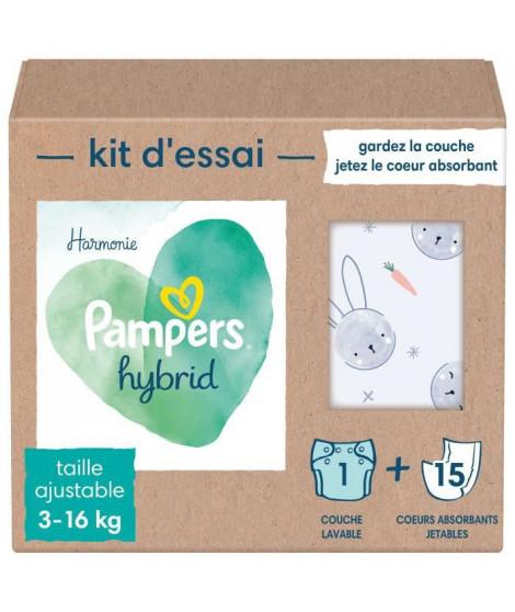 PAMPERS Hybrid Kit couches lavables pour bébés x25