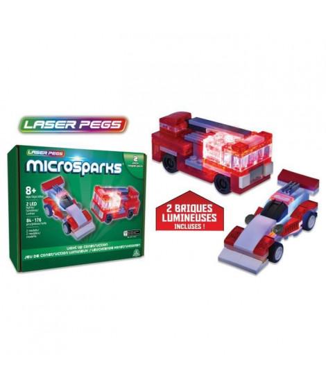 Laser Pegs, Véhicule pack double, Construction, brique lumineuse, Jouet pour enfants des 8 ans, LAU01