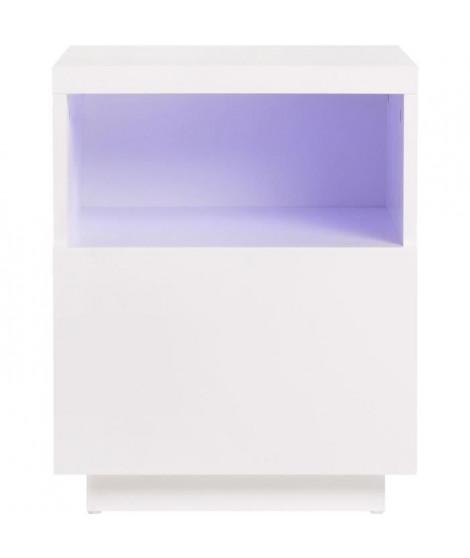 Chevet 1 tiroir avec luminaire LED inclus - LUX