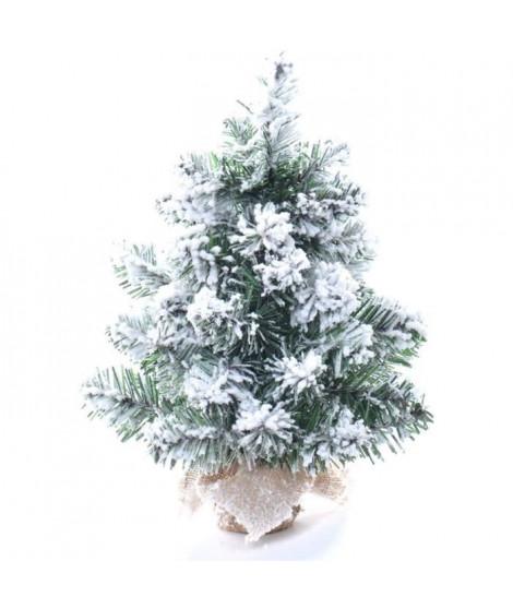 CP INTERNATIONAL Sapin de Noël floqué - 40 branches - H.45 cm