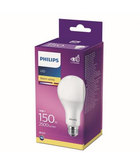 PHILIPS Ampoule LED Standard E27 -  19 - 5W équivalent 150W blanc légerement chaleureux