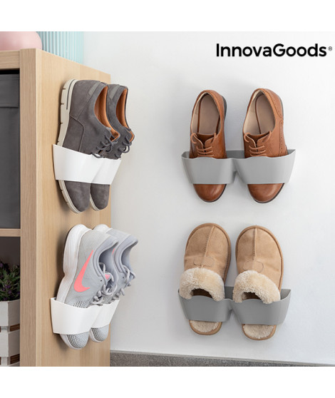 Ranges Chaussures Adhésivifs InnovaGoods (4 Paires)