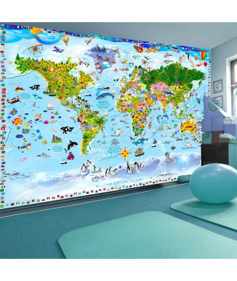 Papier peint - World Map for Kids