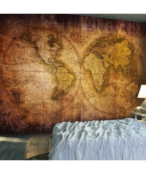 Papier peint - World on old map