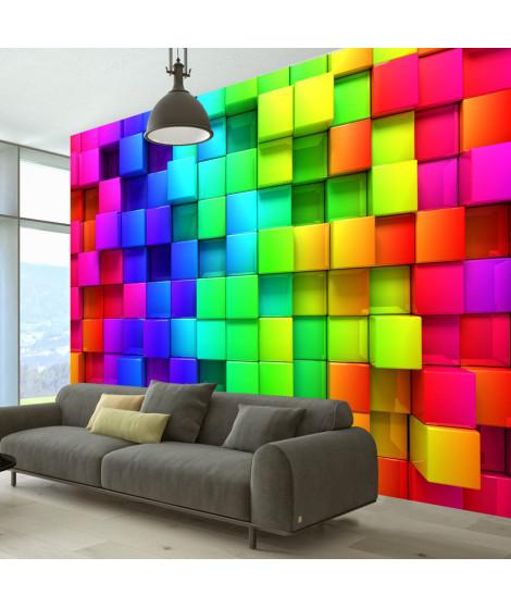 Papier peint - Colourful Cubes