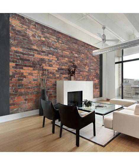 Papier peint - Vintage Wall (Red Brick)