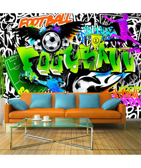 Papier peint - Football Graffiti