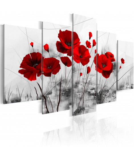 Tableau - coquelicots - rouge  miracle