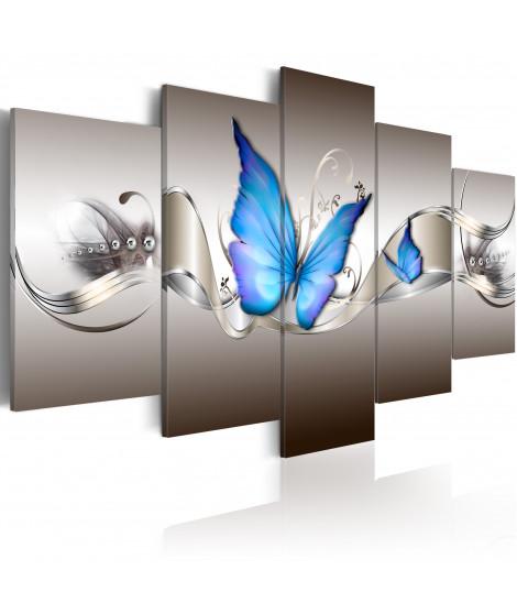 Tableau - Papillons bleus